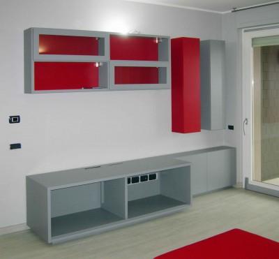 mobili soggiorno su misura laccati colore 3 low
