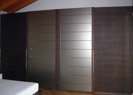 armadio su misura 8 ante legno vetro specchio