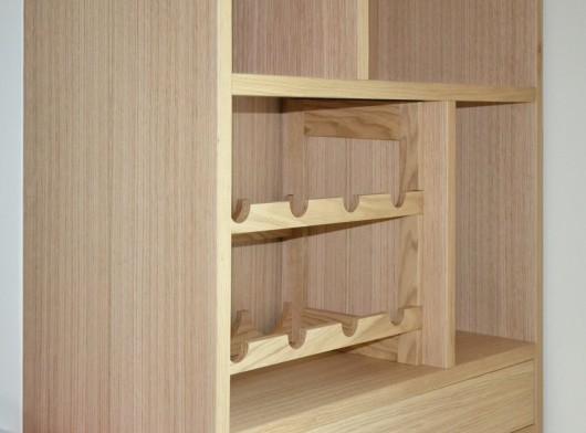 mobile dispensa in legno si rovere sala enrico arredamenti