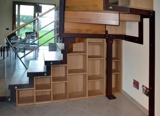 armadi in legno sotto scala su misura salalab 2